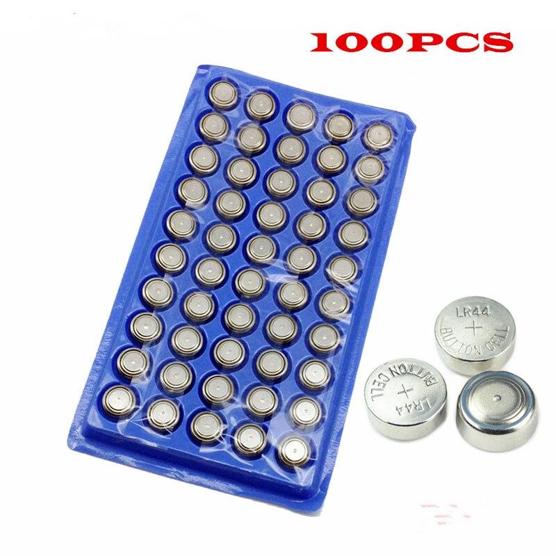Envío Gratis 100 Uds AG13 de alto volumen pila de botón 357A A76 303 LR44 SR44SW SP76 L1154 RW82 RW42 de larga duración relojes de juguete