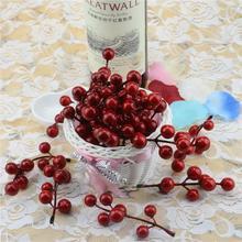High copy 10pcs( 7 head ) fruit bouquet of artificial cherry berry fake pearl flower stamens DIY wedding home decoration