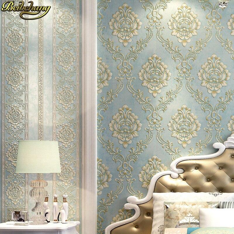 Обои для спальни с тиснением, современные Дамасские обои, белые обои, классические обои, 3d обои для гостиной