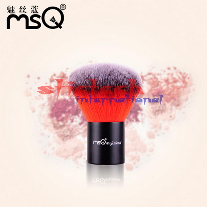 Por ems o dhl 50 Uds brocha profesional para polvo pelo sintético de gama alta doble Color Kabuki cepillo para la belleza 4 colores disponibles