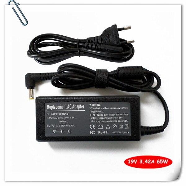 Адаптер переменного тока, зарядное устройство для ACER ASPIRE V3-571, V3-731, V5-171, V5-471, V5-531, 19 в, 3,42a, 65 Вт, шнур питания