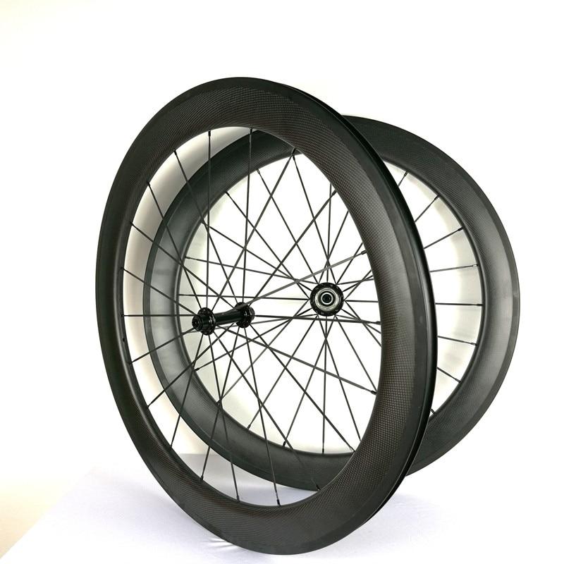 700C juego de ruedas de bicicleta de carretera de carbono etiqueta engomada personalizada carretera ruedas de carbono 38/50/60/88mm 23mm de ancho Ruedas de bicicleta de carbono