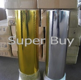 Hot stamping foil 1 roll , Silver color or gold color. Size: 8cmx120M/roll.