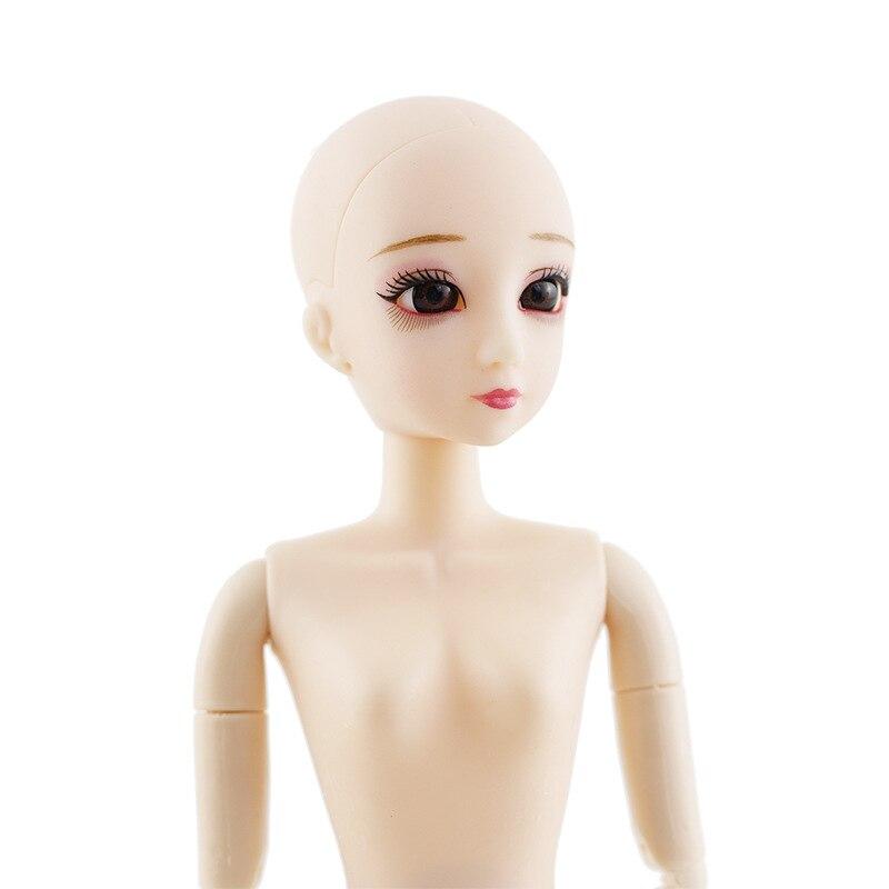 Novo 18 moveable articulado 30cm 1/6 bonecas brinquedos nu nu boneca nu corpo descabeçado moda feminina diy compõem bonecas brinquedo para meninas