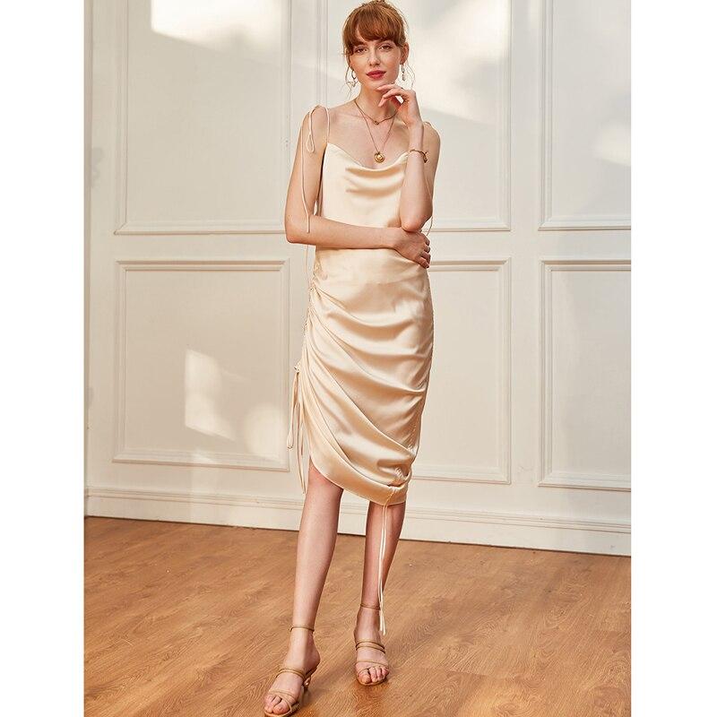 AEL Summer 2019 Women Slip Dress Fashion Long Camisole Slim Women Party Dress Sexy Backless Creative Customization