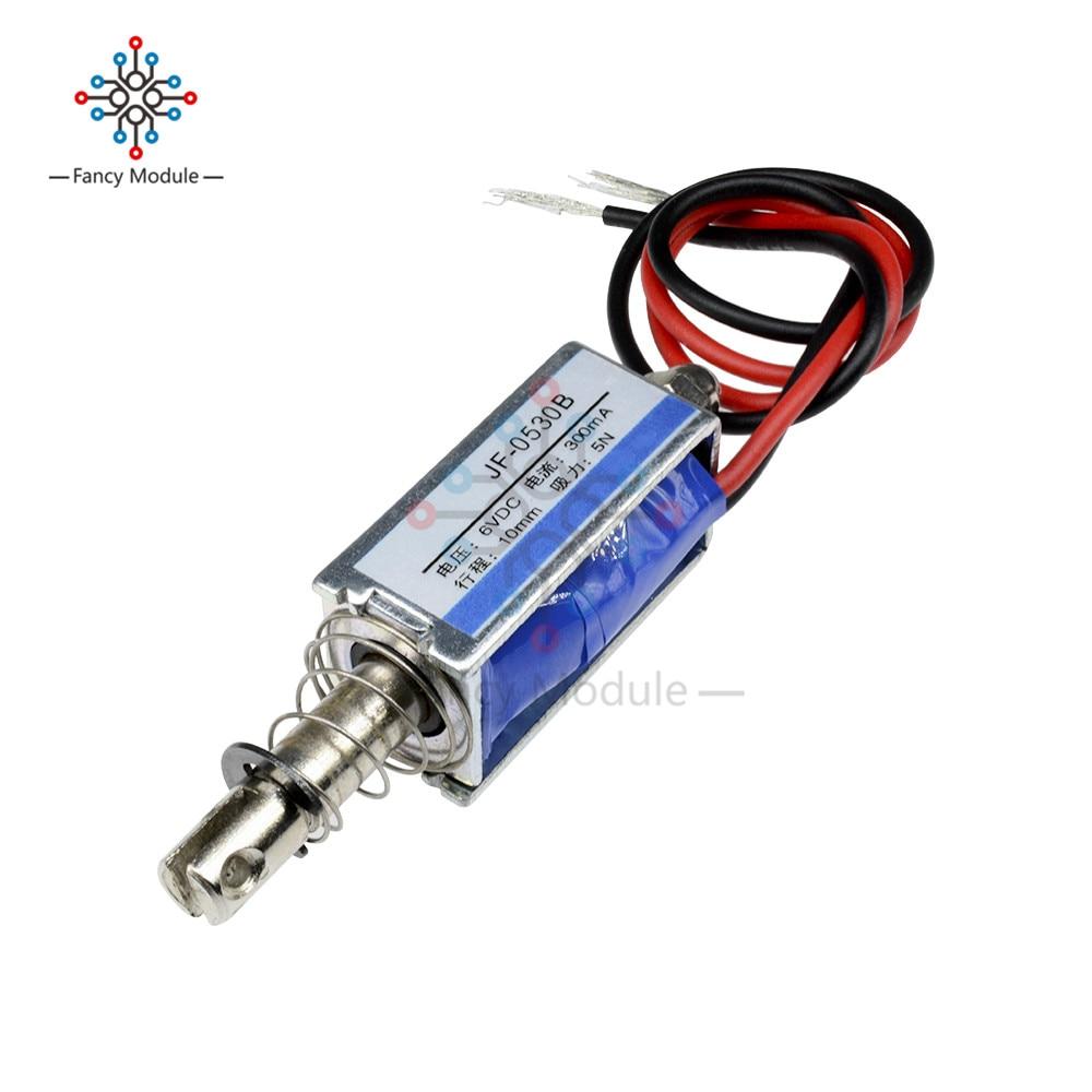 JF-0530B Pull-Push-Type соленоид Электромагнит постоянного тока 6В 300мА 5Н/10 мм
