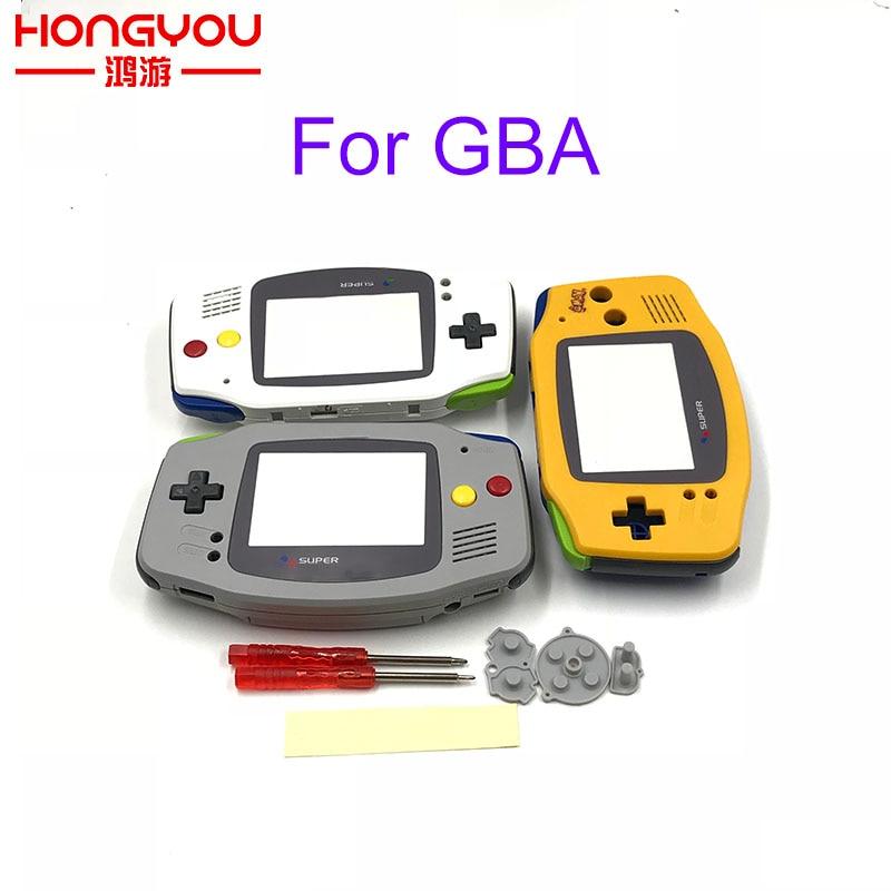 Запасной серый корпус с черными кнопками для Nintendo Gameboy Advance GBA для Super famicom контроллера