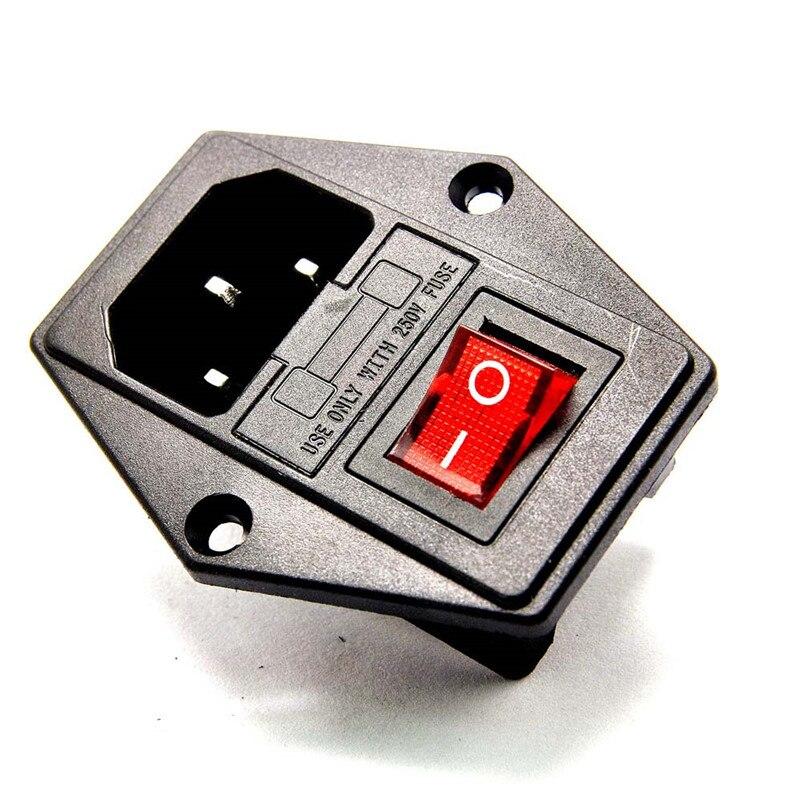 Высокое качество 10A 250V Входной модульный Штепсель предохранитель переключатель Мужской Разъем питания 3 Pin IEC320 C14