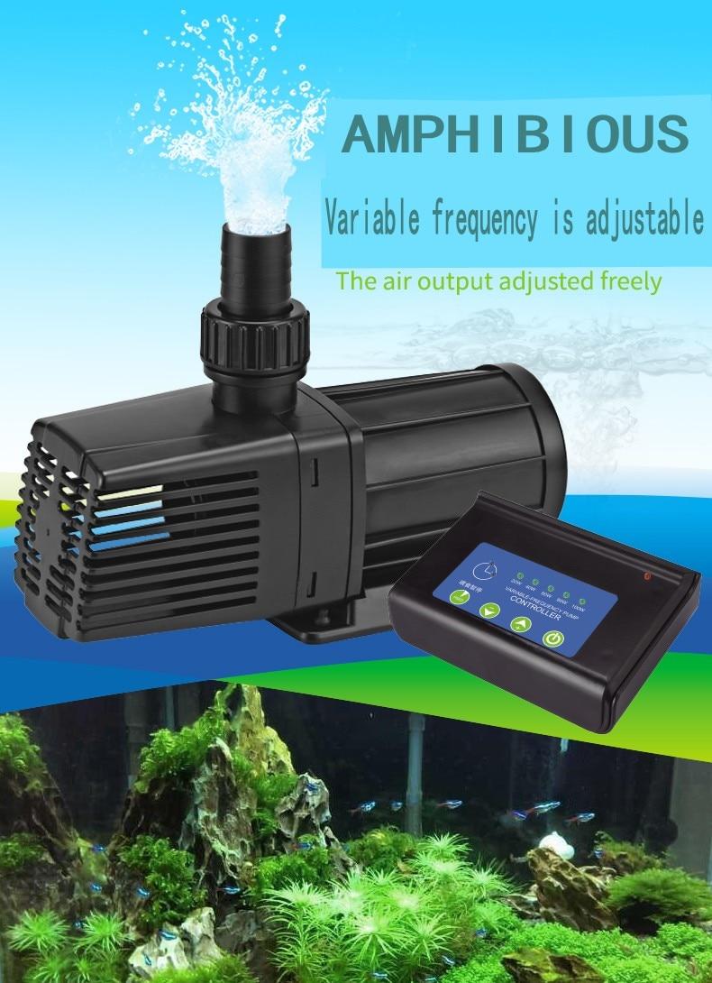 Bomba de circulación sumergible de frecuencia variable SOBO, bomba filtrante para pecera, bomba silenciosa para estanque de peces, tasa de Flujo ajustable