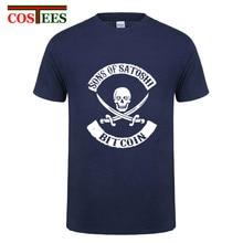 SONS OF SATOSHI BITCOIN T-shirt männer one piece pirate Bitcoin Cryptocurrency Lustige anarchy T-Shirt Bitcoin Virtuelle Währung hemd