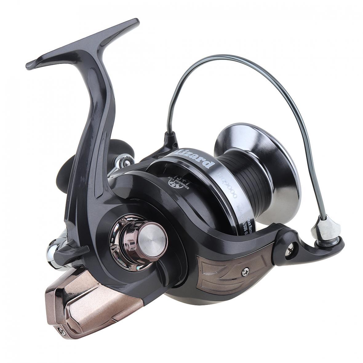 13+1 Ball Bearings 5.11 Spinning Fishing Reel Metal Spool 25KG Max Drag Jigging Trolling Long Shot Left / Right Interchangeable