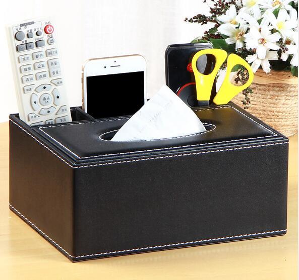 1 шт. коробка для салфеток из искусственной кожи многофункциональный держатель для салфеток с пультом дистанционного управления коробка дл...