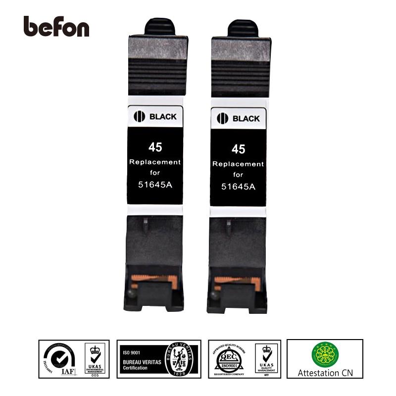 Befon X2 45 خرطوشة طابعة استبدال ل HP 45 HP45 الحبر خرطوشة منضدية ل 710C 870CXI 830C 880C 890C 895CXI 930C 950C