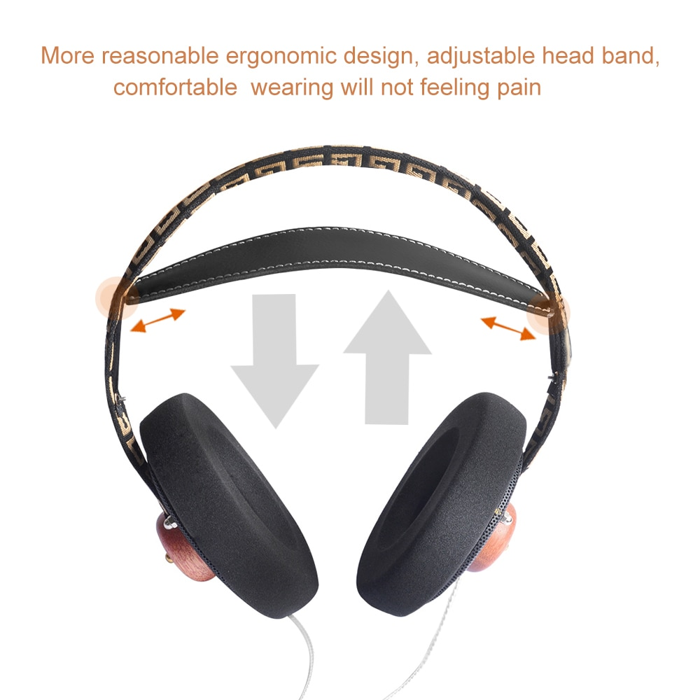 OKCSC ZX1 Open Back HiFi Wooden Over-ear Headphone 57mm Speaker Open Voice Monitor Headset with 3.5mm Silver Plated Cables enlarge