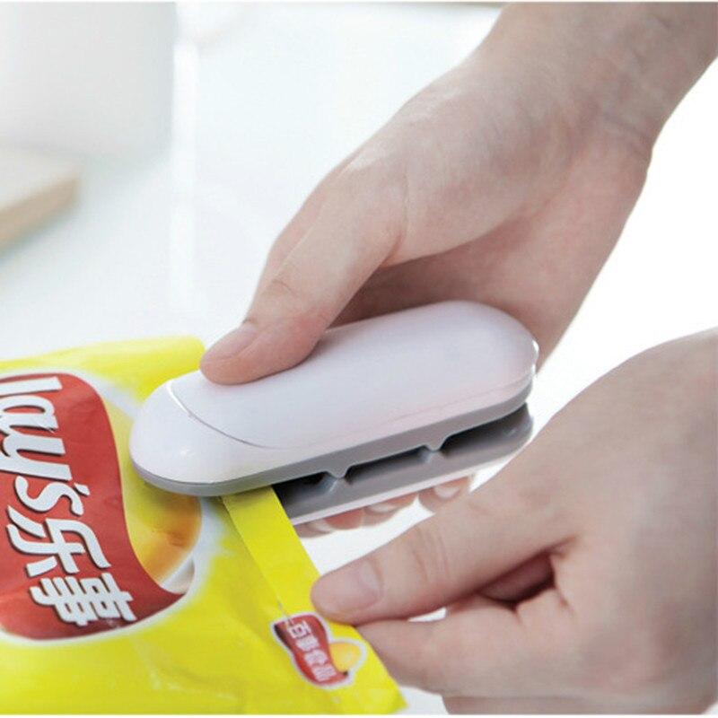 1 шт., портативная Бытовая мини-машина для запечатывания тепла, керамический импульсный уплотнитель, уплотнитель, упаковочная пленка, пластиковый пакет, упаковщик