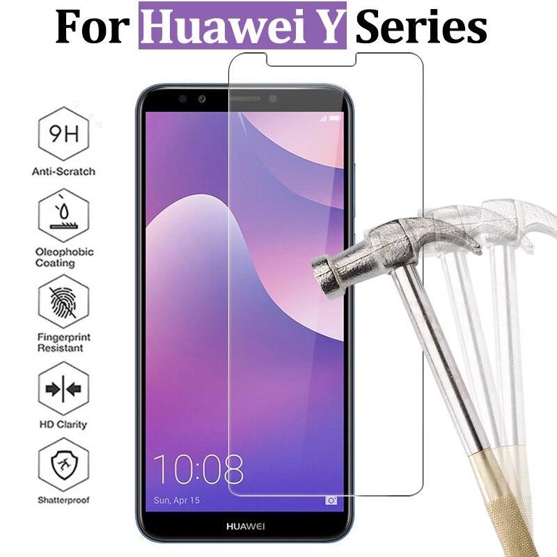Para Huawei Y9 2018 cristal para Huawei Y6 y5 prime 2018 cristal protector Y3 Y5 Y6 ii protector de pantalla Y 3 5 6 vidrio templado 9h película