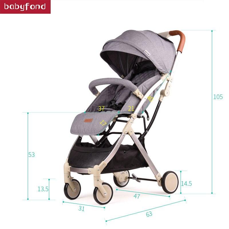 Cochecito de bebé de una mano de 5,7 kg, cochecito portátil ultraligero plegable, puede sentarse, reclinable, cochecito de bebé infantil