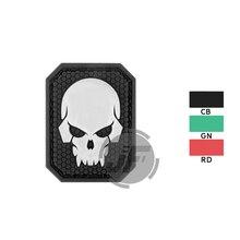 Ecusson de crâne de Pirate brillant tactique insigne de brassard militaire pour casquette de sac à dos en tissu BDU noir