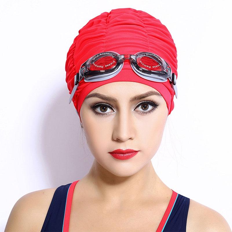 Women Sports Swimming Caps Stretch Elastic Swim Pool Hat Swimming Cap High Quality Nylon Bathing Hats Caps For Men Women Adults