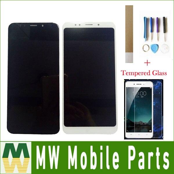 شاشة أصلية لهاتف شاومي ريدمي 5 بلس, شاشة LCD + محول رقمي لشاشة اللمس باللون الأسود والأبيض مع عدة