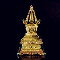 Blessing 12cm exquisite sheet metal does not fade Tantric repair method Zengfu hard alloy Bodhi tower stupa free ship