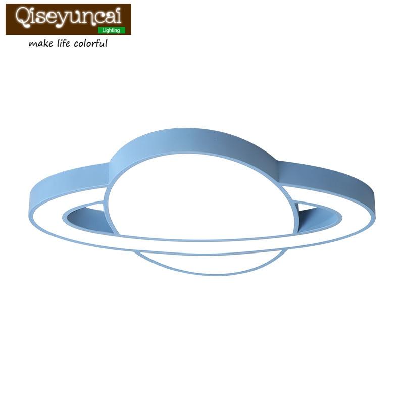 Lámpara de techo led para habitación de niños Qiseyuncai lámpara de techo para niño niña simple protección ocular estudio macarons lámparas