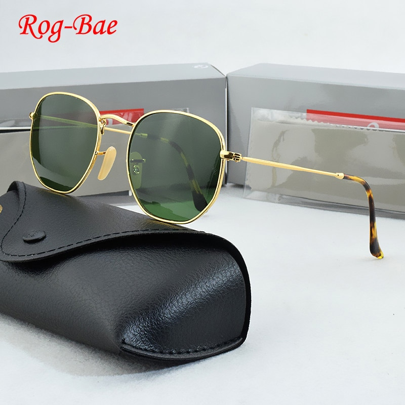 RogBae Brand sunglasses women 2019 glass lens HD Retro sunglasses men Designer Sunglasses Driving gl