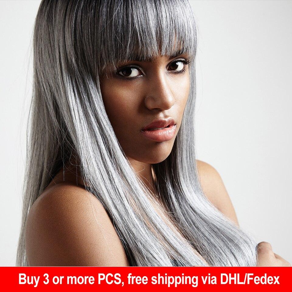شعر ياكي برازيلي طبيعي ناعم ، شعر ريمي مزدوج ، منسوج ، قصير ، #44 #34 #51 #280 ، بيانو رمادي ، ألوان مختلطة ، 113 جرام
