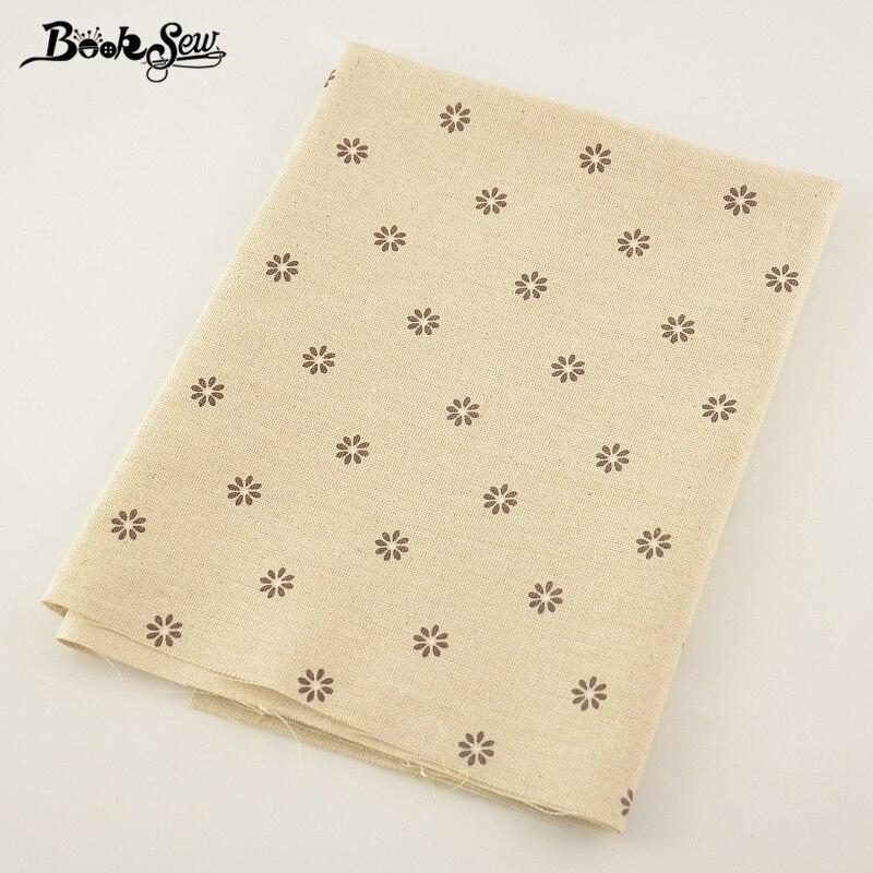 Booksew Sewing Material Tissu  Home Textile Tablecloth Pillow Bag Curtain Cushion Zakka Litte Flower Design Cotton Linen Fabric