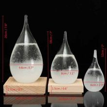 Météo en forme de poire de cristal   Décor de tempête de verre, cadeau de noël et de nouvel an, météo pour bouteille de gouttes de verre, décor artistique