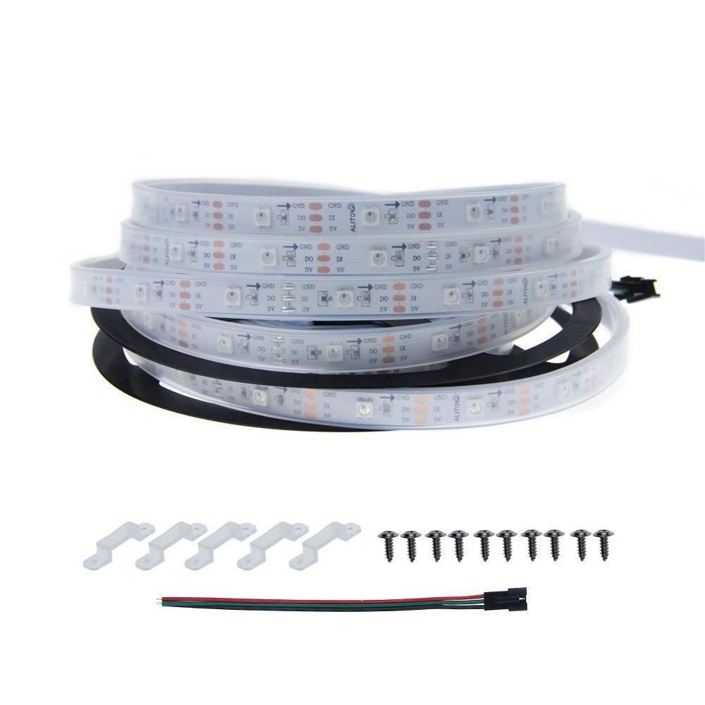 Versão atualizada WS2812B embutido IC-30 por metro 30 luzes SK6812 Sinfonia de luz suave tira 5050 RGB