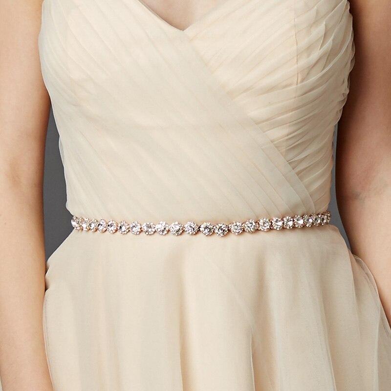 Miallo Mode Dünne Strass Legierung Hochzeit Gürtel & Schärpen Braut Kleid Zubehör Dünne Schärpen für Braut Brautjungfern
