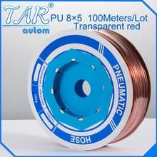 Tubes pneumatiques en polyuréthane PU 8mm * 5mm (100 mètre/rouleau)   tubes pneumatiques, Tube en polyuréthane, tuyau en plastique, tuyau à air PU doré
