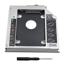 Boîtier de disque dur aluminium 2nd HDD Caddy 12.7mm boîtier SATA 3.0 2.5