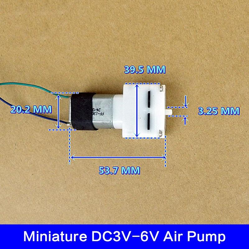 Mini bomba de aire DC 3V 4,5 V 6 V, bomba de aumento de oxígeno para tanque de Acuario, bomba de aire 130 de circulación de oxígeno
