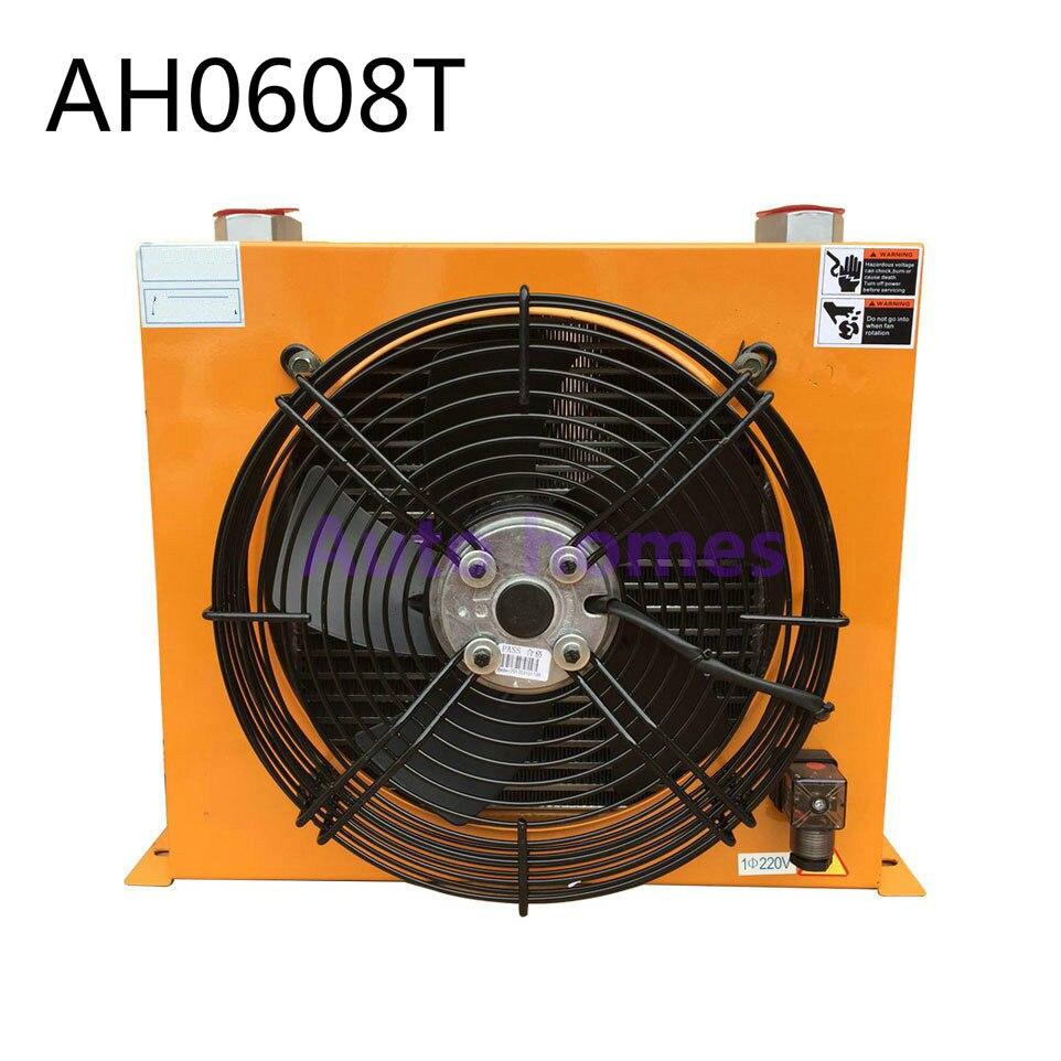Enfriador de aire hidráulico, unidad enfriadora de aceite intercambiador de calor de aleación de aluminio AH0608T, condensador intercambiador de calor de aluminio