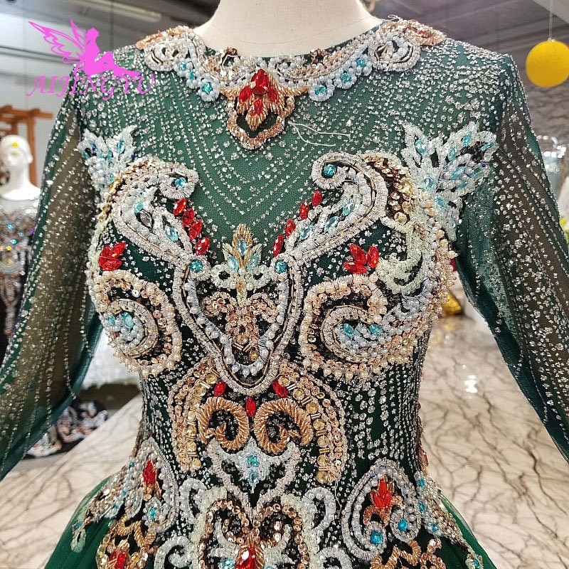 Aijinyu vestido de novia coreano romántico amor hecho en China italiano Sri Lanka maravilloso vestido de tul novia y vestidos de bodas
