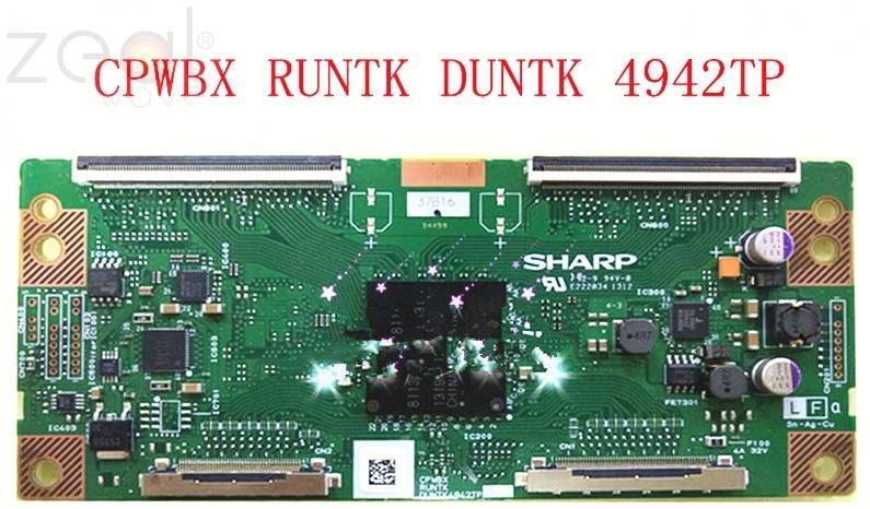 Para Sharp Tcon lógica BarCPWBX RUNTK DUNTK 4942TP ZL ZK ZZ ZC ZF lógica placa