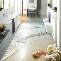 beibehang floor painting wall stickers wallpaper summer beach shell 3d floor tile papel de parede wall paper for walls 3 d