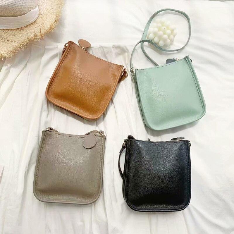 Korean Women Bags PU Leather Mini Crossbody Phone Bag Designer Small Female Shoulder Bags Brand Ladies Message Bag Whole Sale