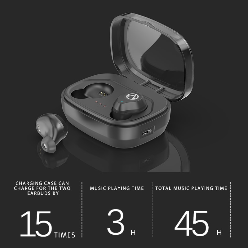 ZEKI Bluetooth 5.0 TWS Earphone IPX7  Waterproof Sweatproof  for Sports  Wireless Headphone Touch Control Earbud with Bank Power enlarge