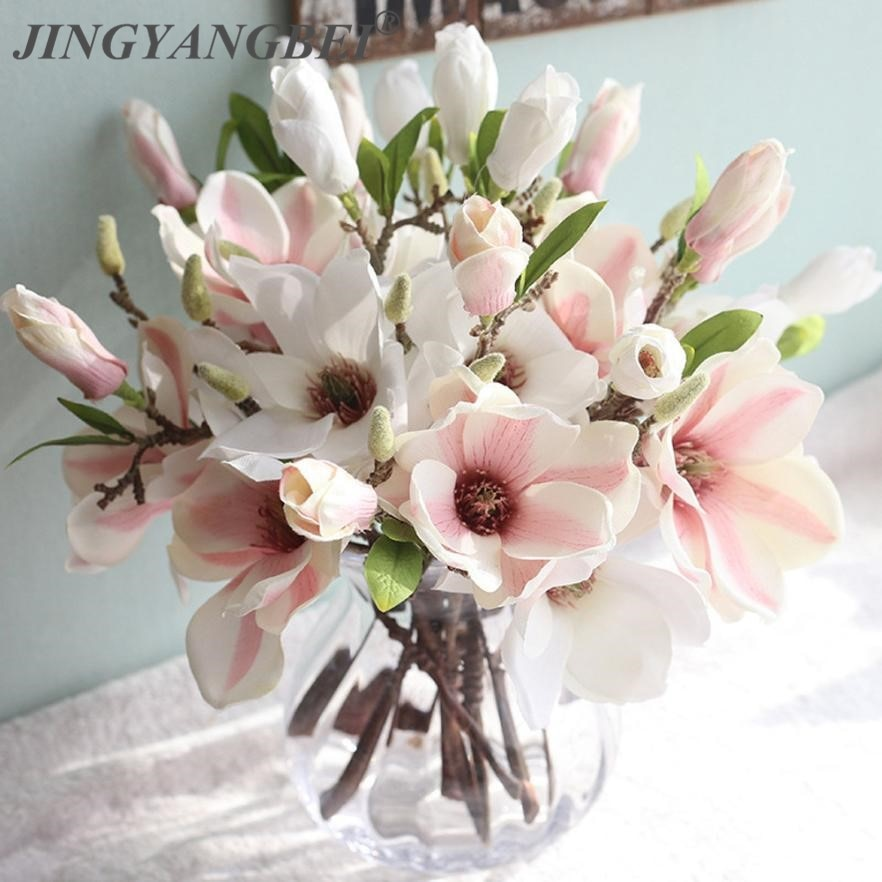 wedding decoration silk flowers orchid Magnolia wedding artificial flowers for home decoration