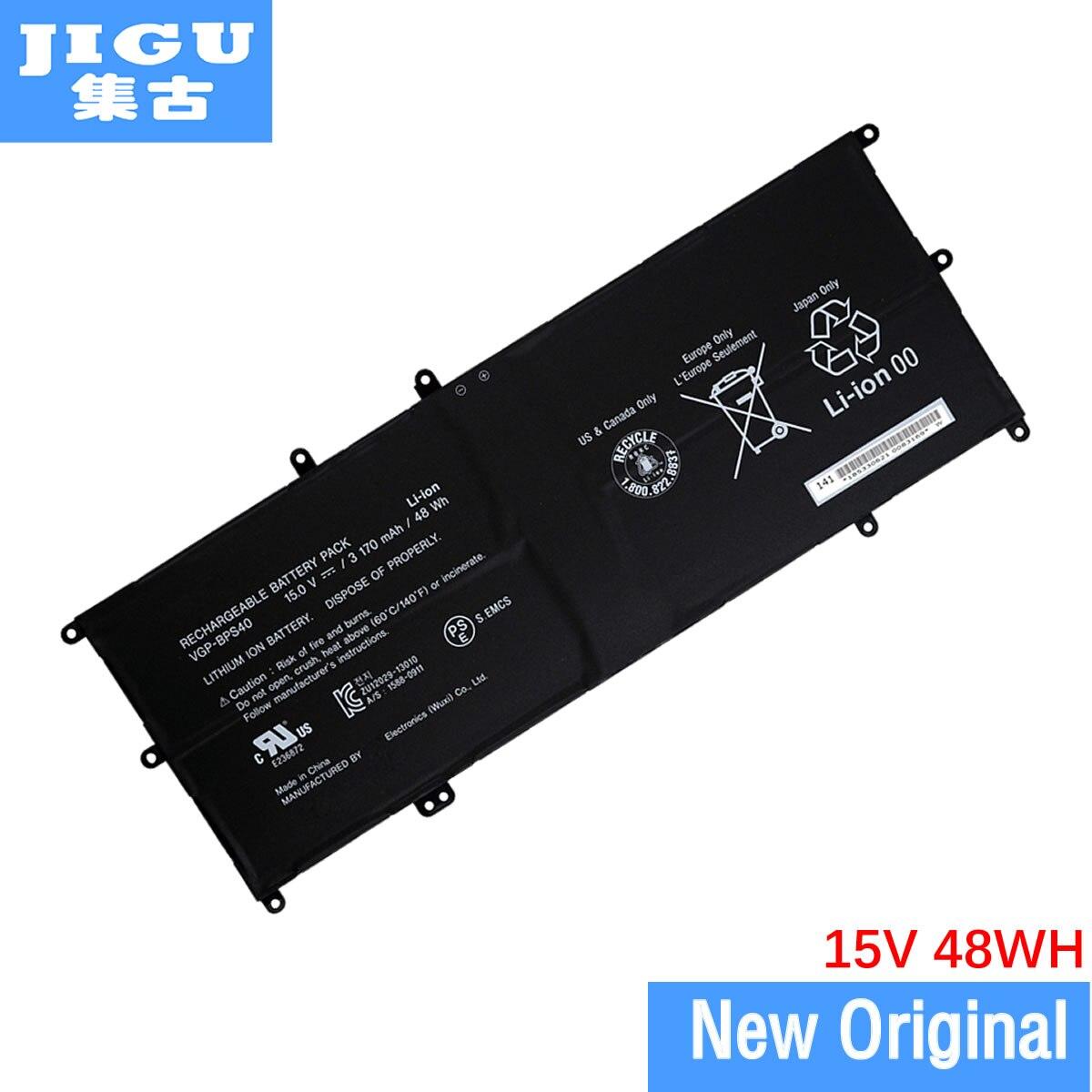 JIGU VGP-BPS40 orijinal Laptop batarya SONY VAIO Fit için 14A 15A SVF14N SVF15N serisi 15V 3170MAH
