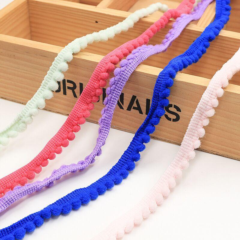 Pom boule de garniture Pom 5 Yards 11 mm   MINI pompon perle, ruban à frange, couture dentelle tissu kintté, accessoires artisanaux faits à la main