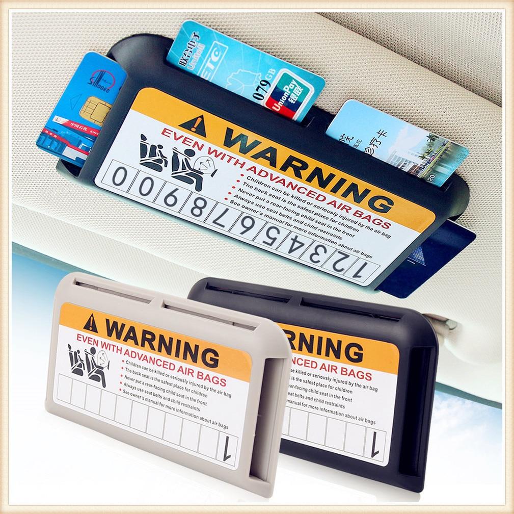 Aparcamiento tarjetero para tarjetas bancarias organizador para Mercedes Benz GLS63 GLS GLE43 B55 a S400 ML450 GLA CLK W202 La CIA W212