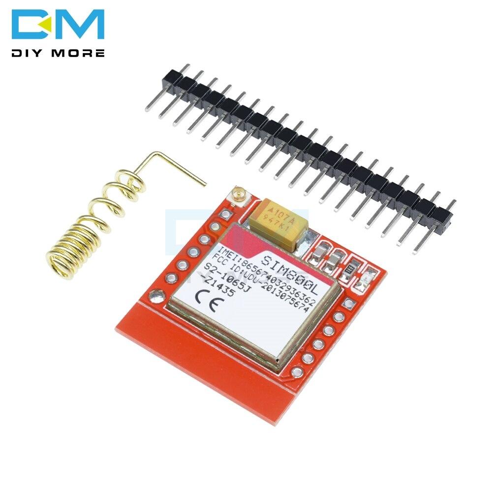 Мини маленький SIM800L GPRS GSM модуль карта MicroSIM Ядро Беспроводная плата четырехдиапазонный TTL Серийный порт с антенной для Arduino DIY