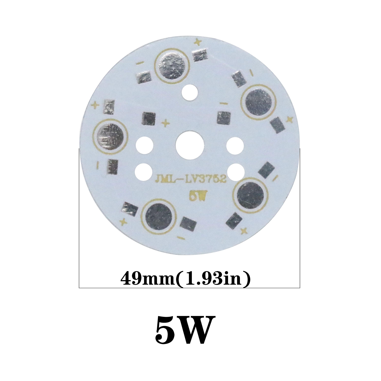 5PCS LED Aluminum Base for  1W 3W 5W 7W 9W 12W 15W 18W 20W 24W 45W Aluminum Plate LED PCB Board Substrate LED Board KIT Heatsink