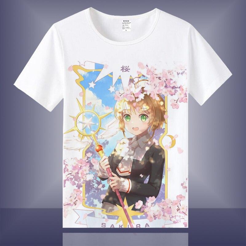 High-Q Unisex Cosplay Anime japonés tarjeta Captor SAKURA de algodón camiseta Casual camiseta T camisa Top