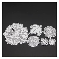 yinise scrapbook metal cutting dies for scrapbooking stencils flower leaf diy album cards decoration embossing folder die cut
