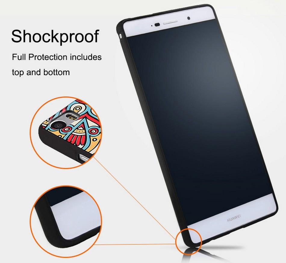 Crownpro miękkie wzory dla huawei honor 4c pro case okładki premium miękkie silicon case dla huawei honor 4c pro tpu 7